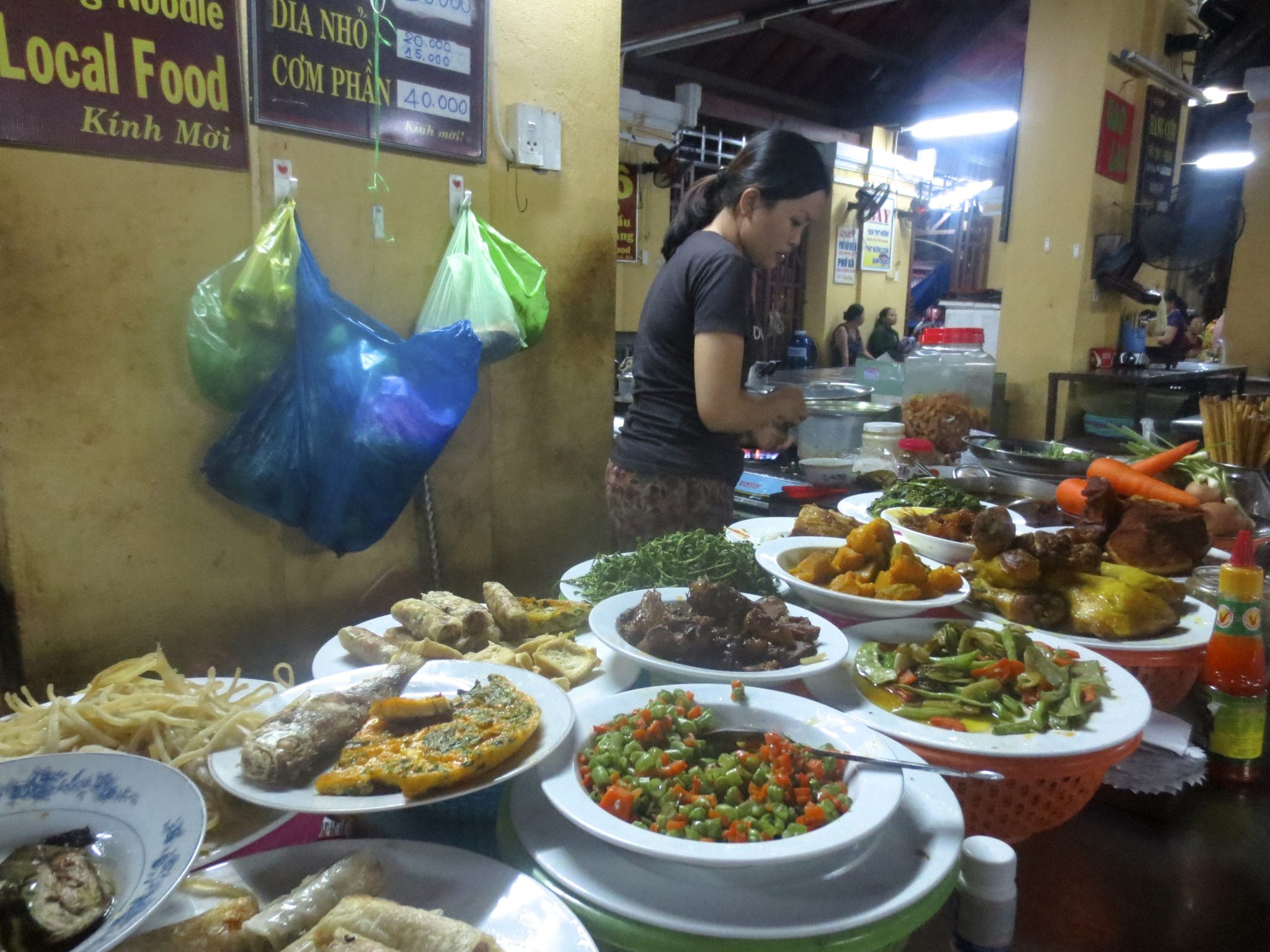 Buffet Style Food Stall at the Central Market