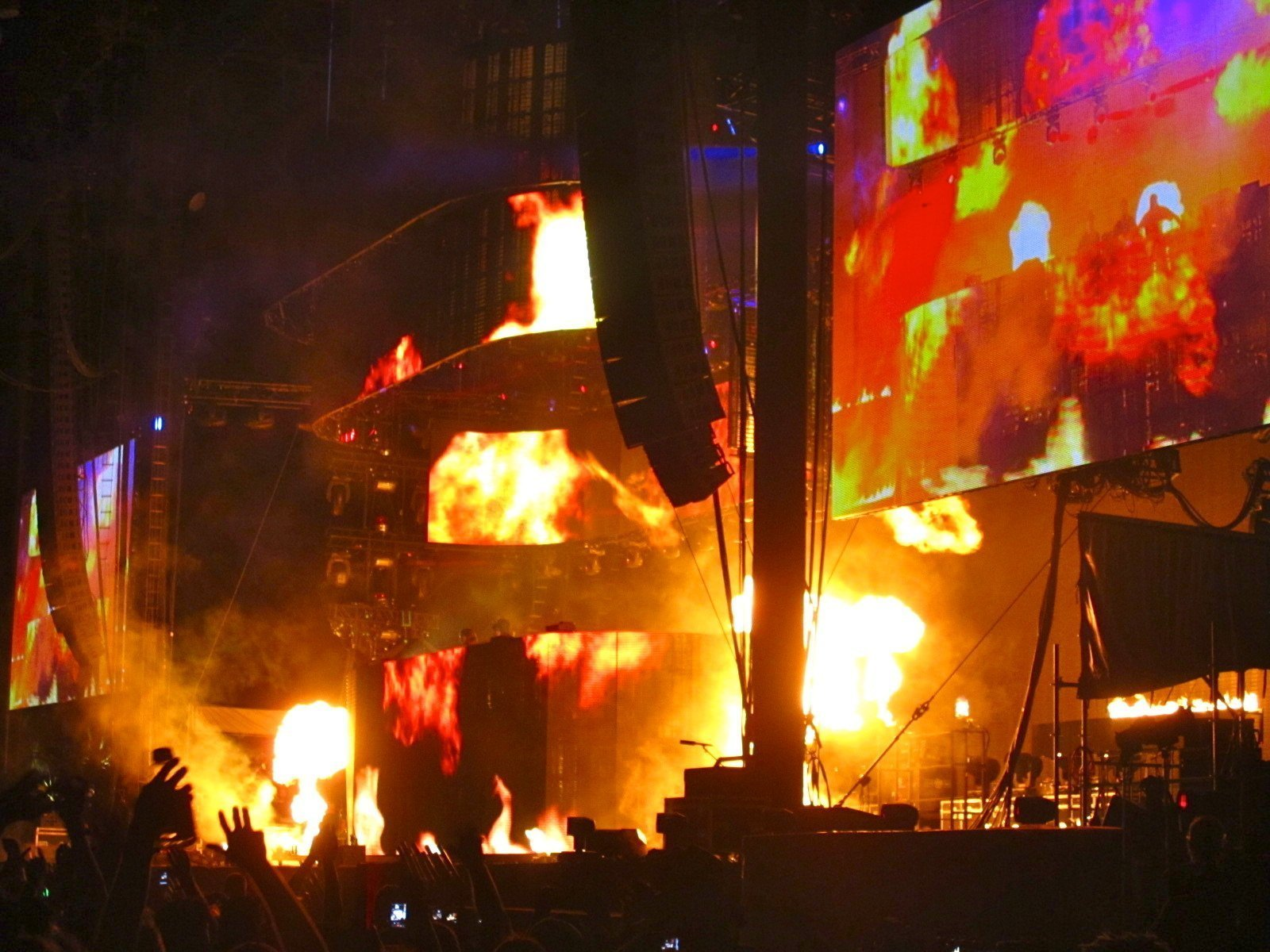 Swedish House Mafia basically lit the whole stage on fire