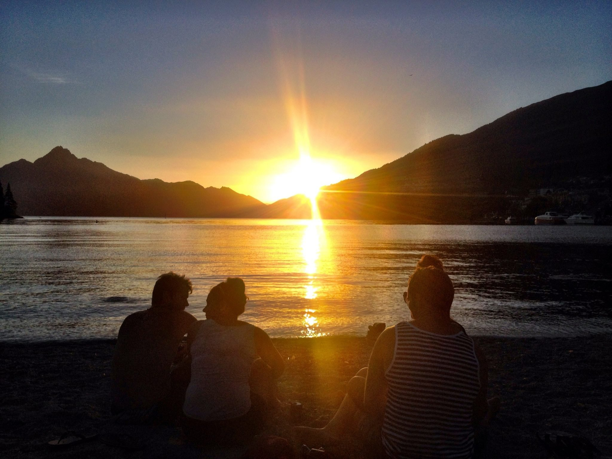 Sunset in Queenstown, New Zealand