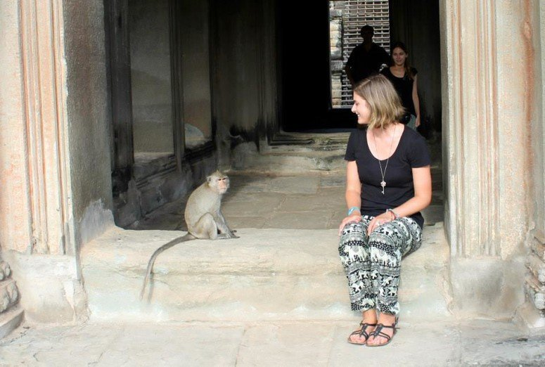 Monkey Times at Angkor Wat - Cambodia