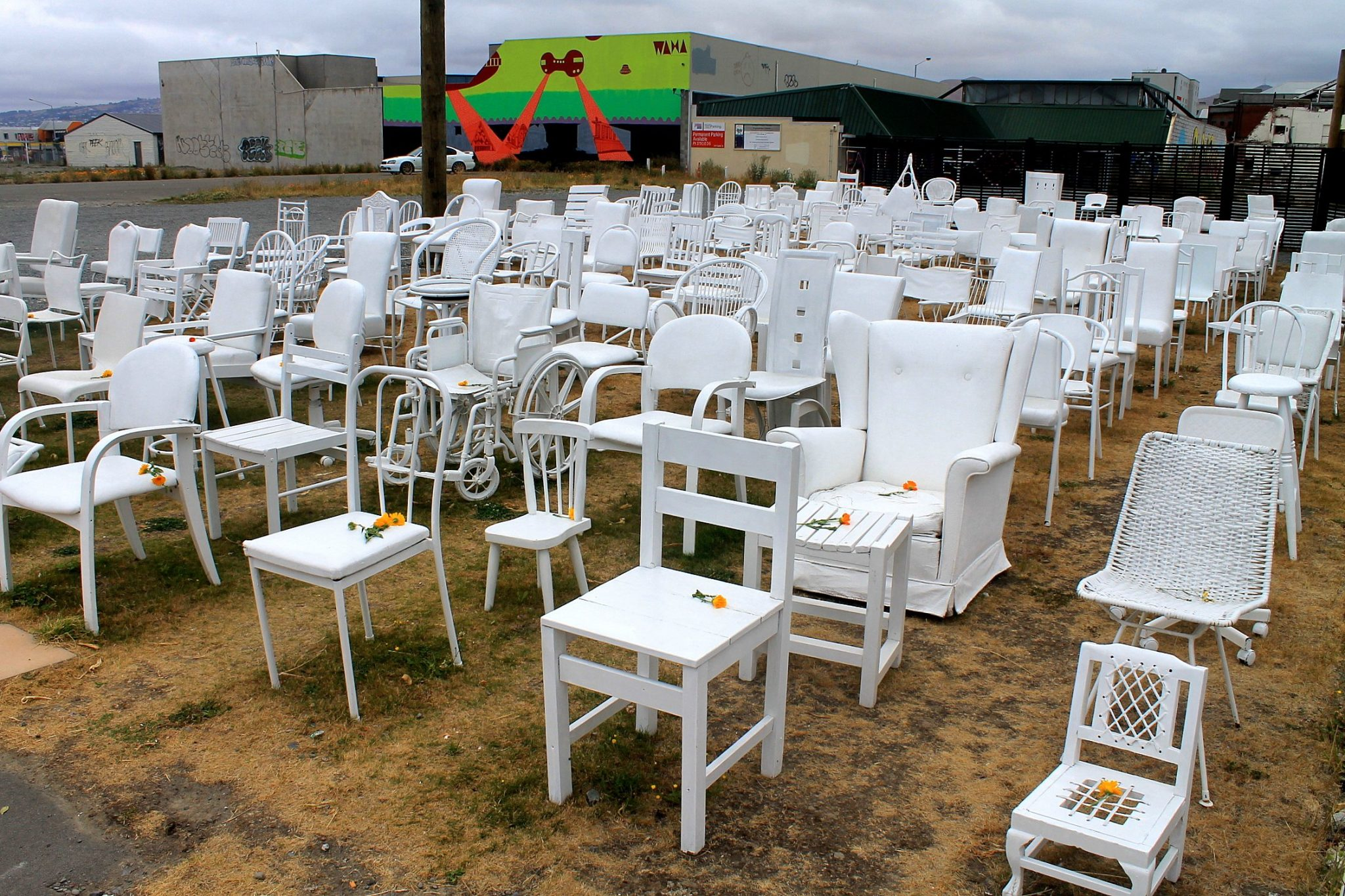 185 Empty White Chairs - Christchurch Earthquake Memorial