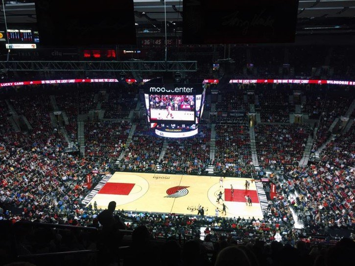 Trail Blazers NBA Game in Portland, Oregon