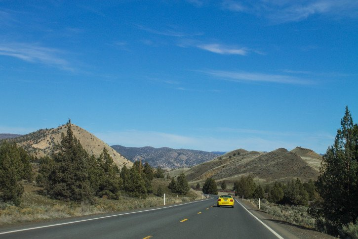 The drive to the John Day Fossil Beds