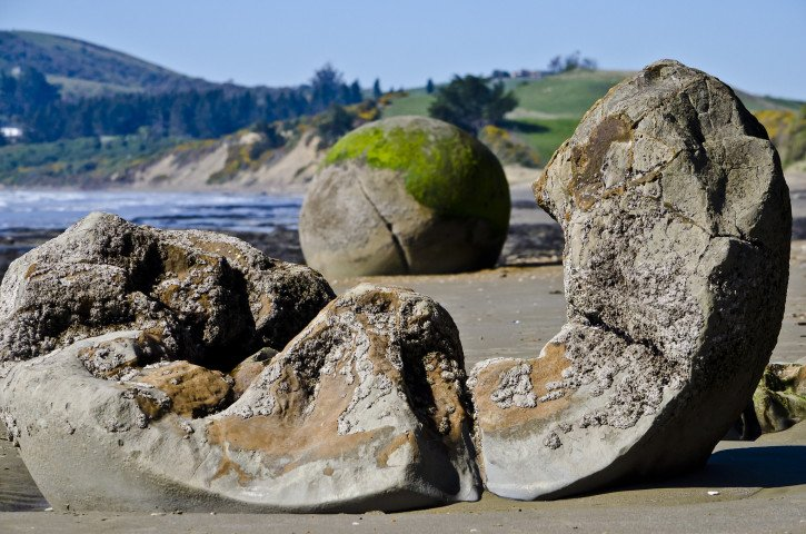 Moeraki Boulders on the South Island of New Zealand