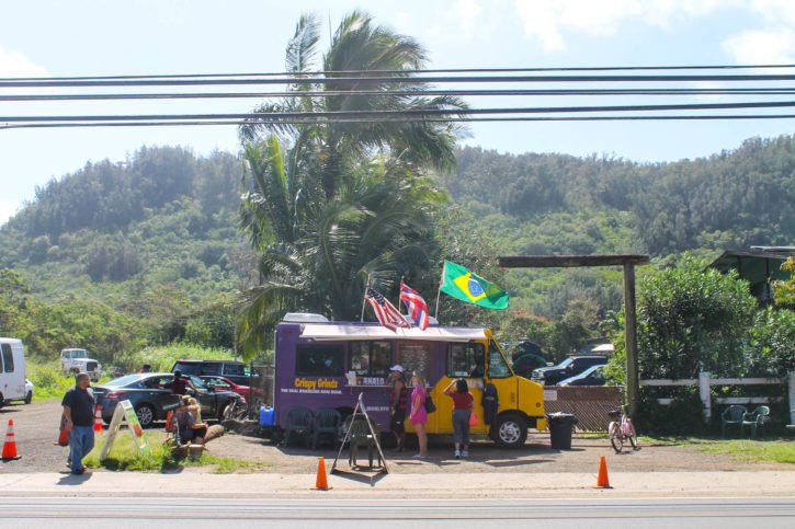 Food truck on the North Shore of Oahu, Hawaii