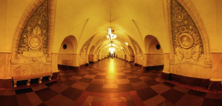 Moscow Metro in Russia, Europe