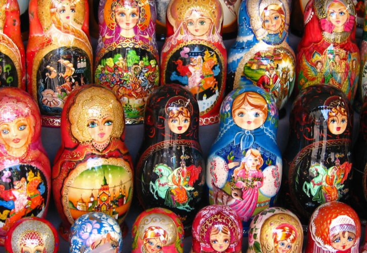 Dolls in Moscow, Russia