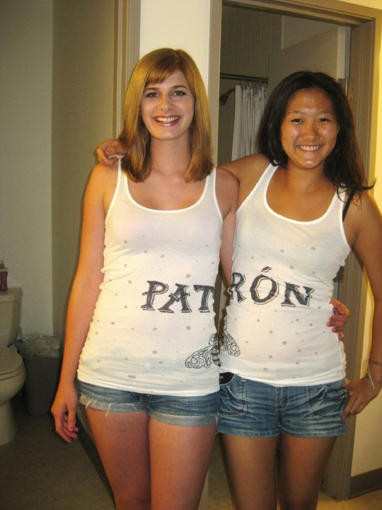 Dressed up as Patron at my 20th birthday party in San Diego, California