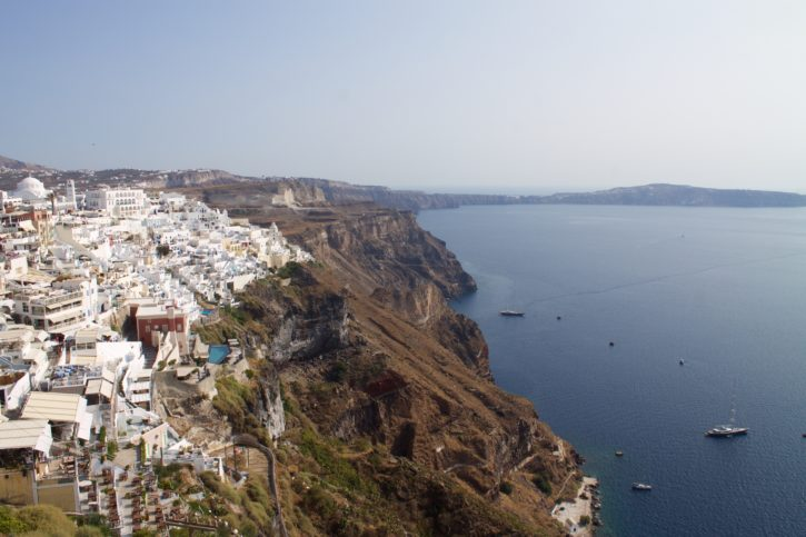 The view from Fira in Santorini, Greece - Europe Travel