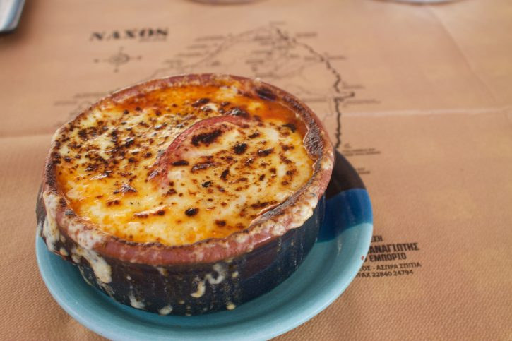 Cheesy dishes in Naxos, Greece - Europe Travel
