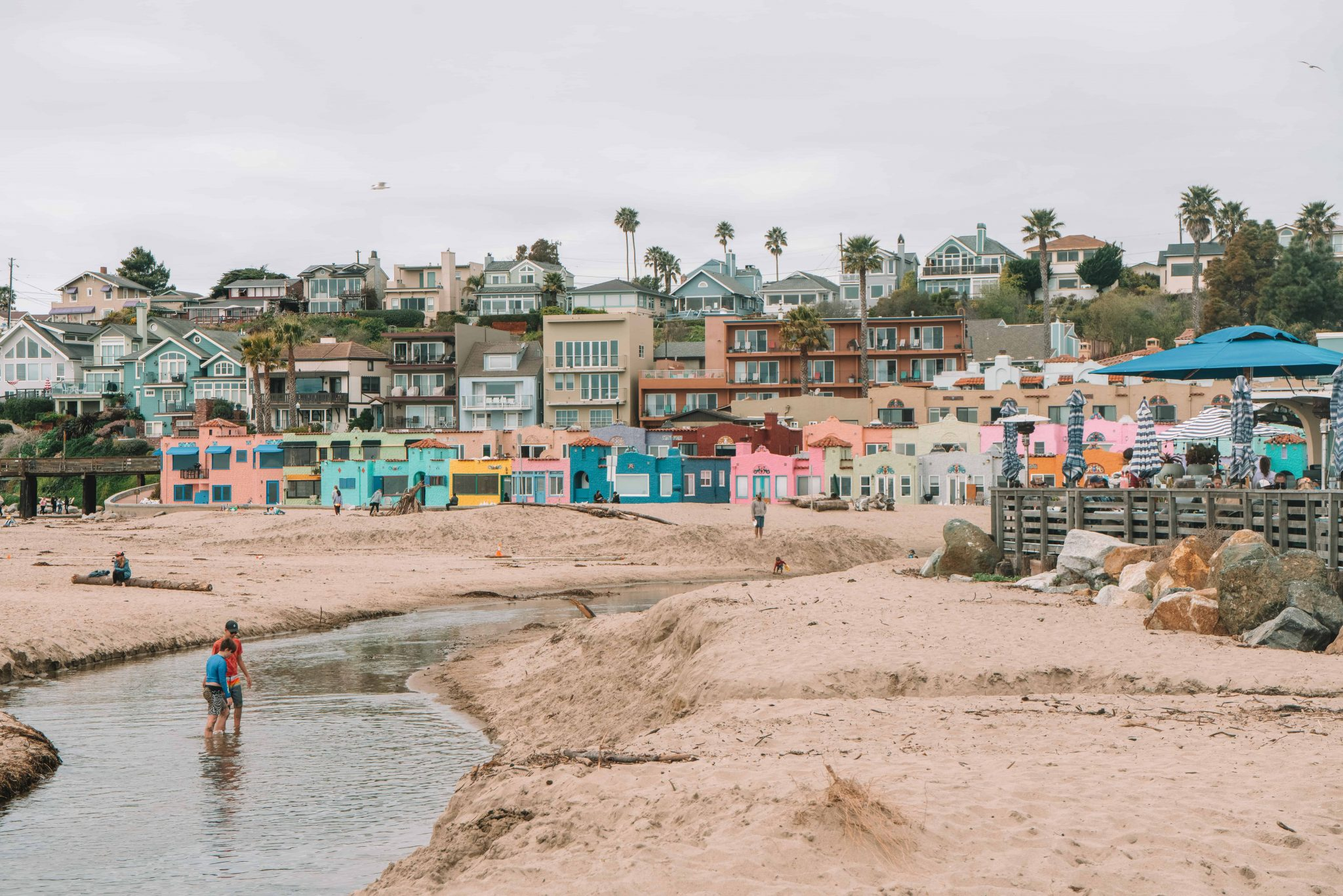 colorful houses at capitola beach