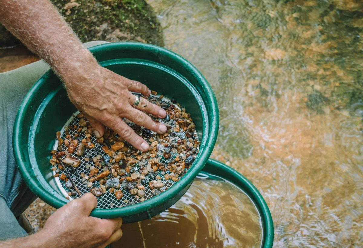 Gold Panning at Julian Mining Company
