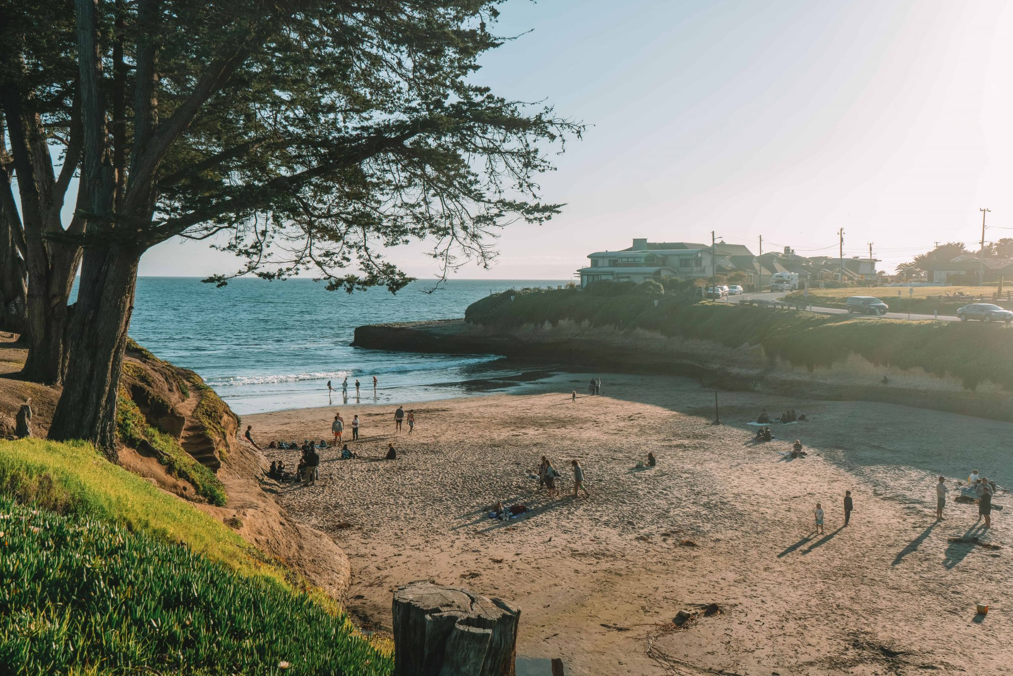 watch the sunset at sunny cove beach