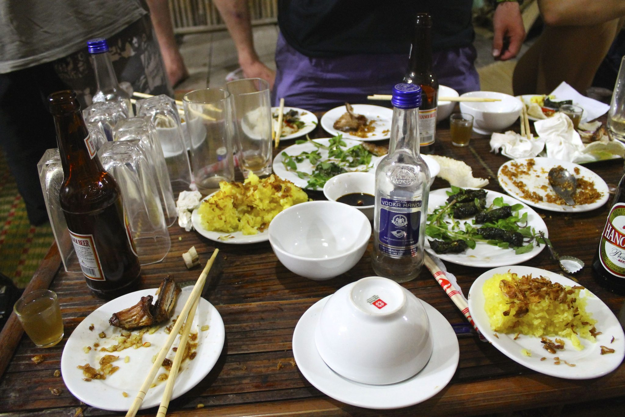 snake dishes & snake blood drink with rice wine | Hanoi, Vietnam