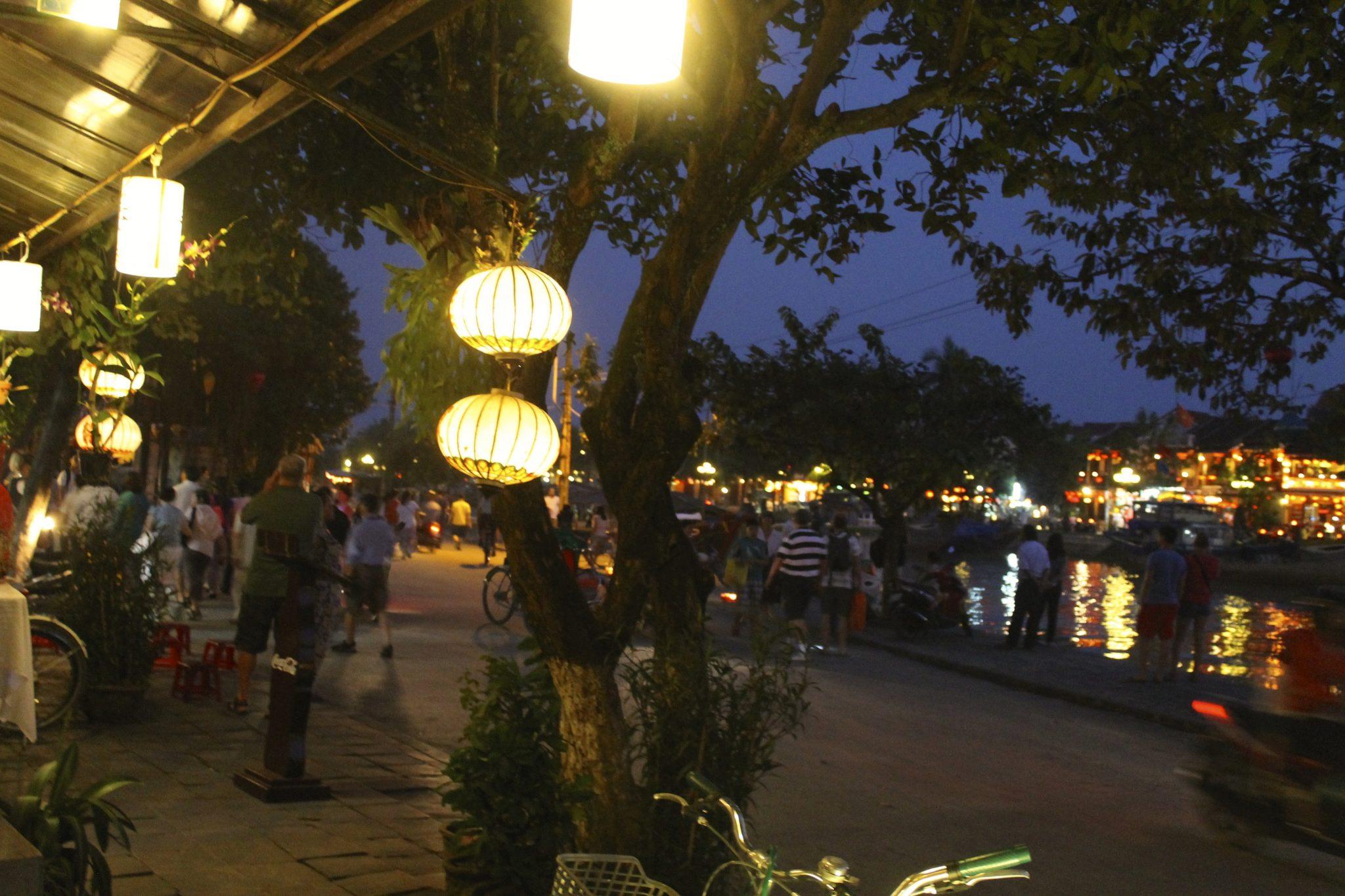 Paper Lanterns After Dusk