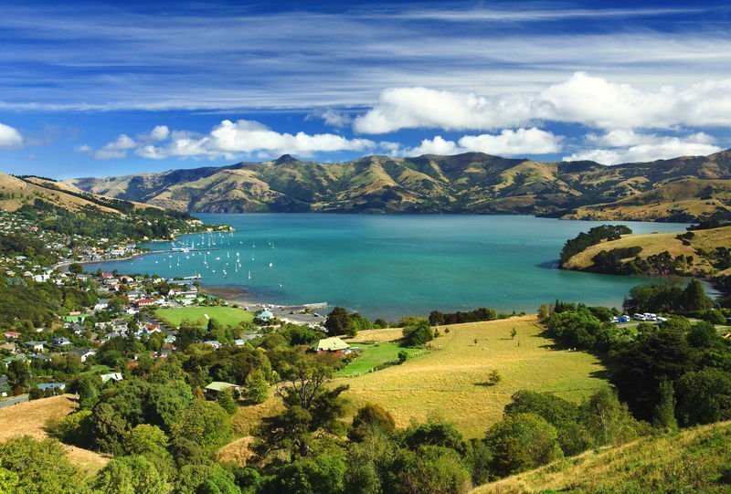 Banks Peninsula, Akaroa, South Island, Neuseeland