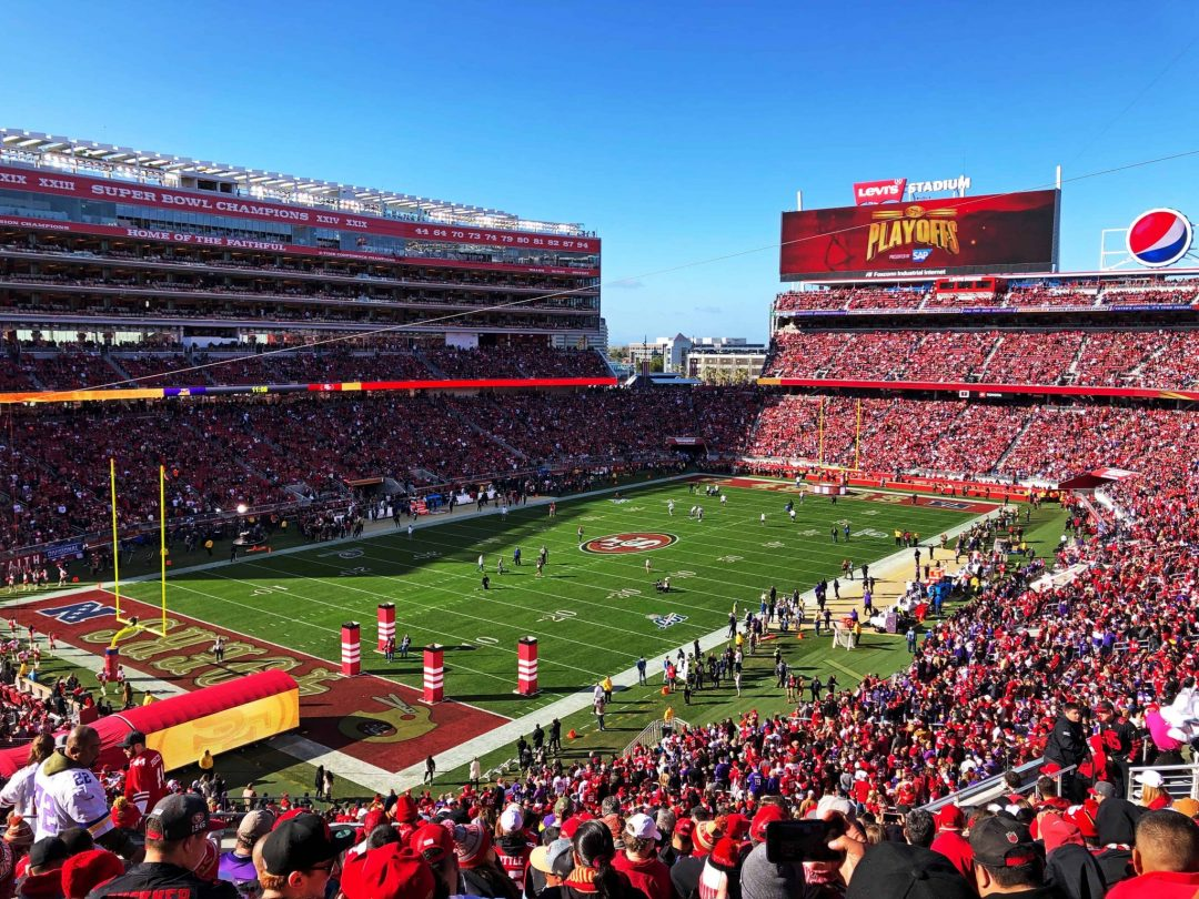 Cheer on a local sports team in San Jose, like the 49ers who play at Levi Stadium