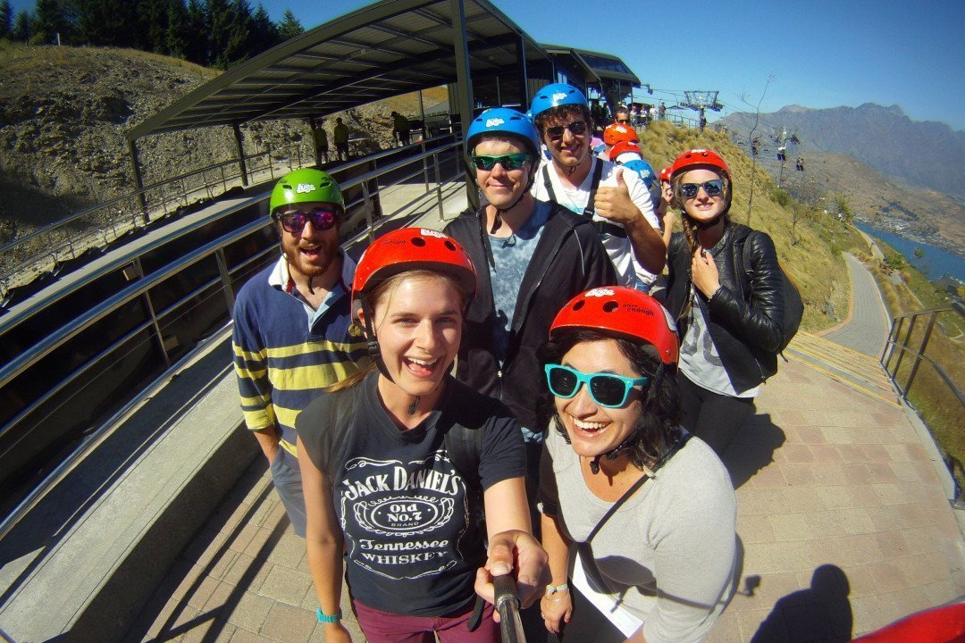 Luging with new friends - Queenstown, New Zealand | luge Queenstown