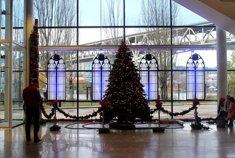 OMSI Christmas Tree - Portland, Oregon