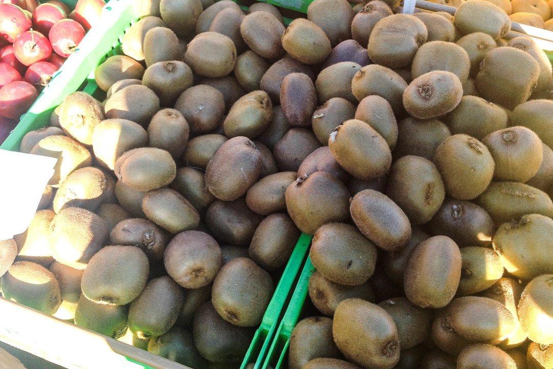 New Zealand food - Kiwifruit at a Wellington market