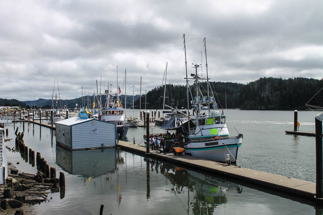 Visit Florence, Oregon and walk on the dock
