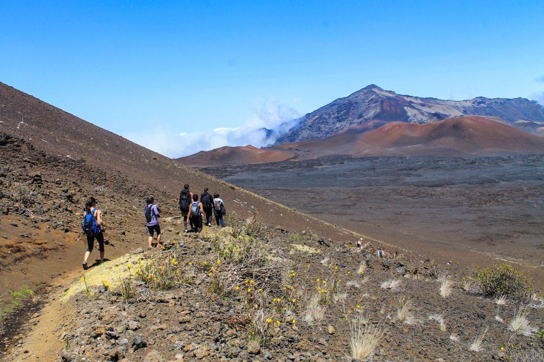 Maui volcano hike - Haleakala Crater
