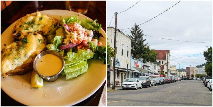 The food in Florence, Oregon - seafood restaurants.