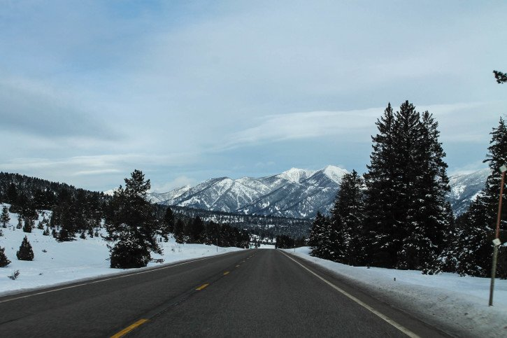 Driving to Bozeman, Montana