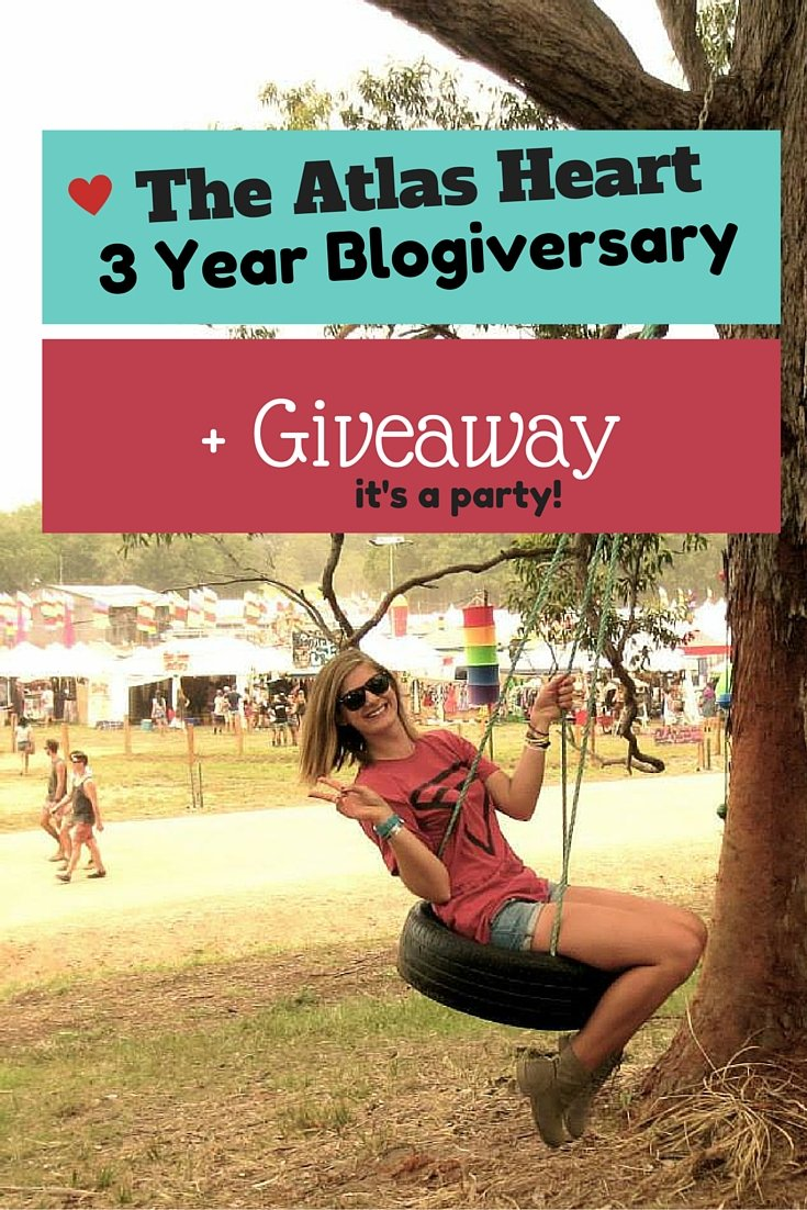 The Atlas Heart 3 Year Blogiversary + Giveaway!