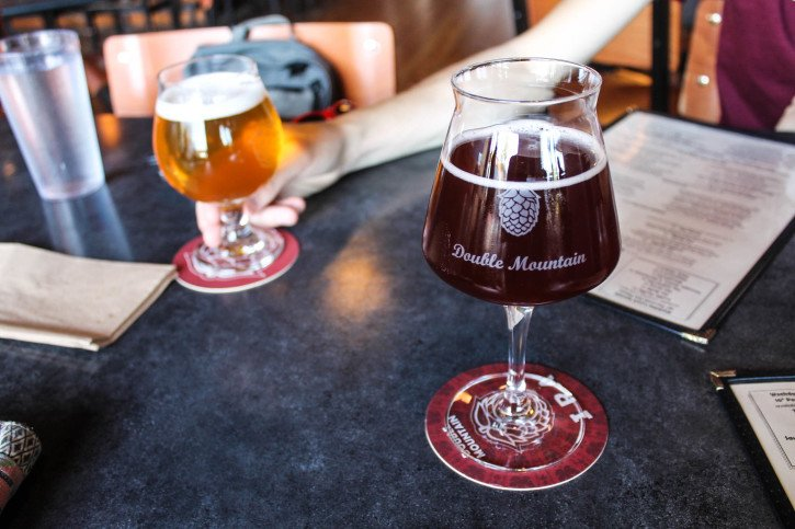 Double Mountain Brewery in Hood River - The Fruit Loop Tour