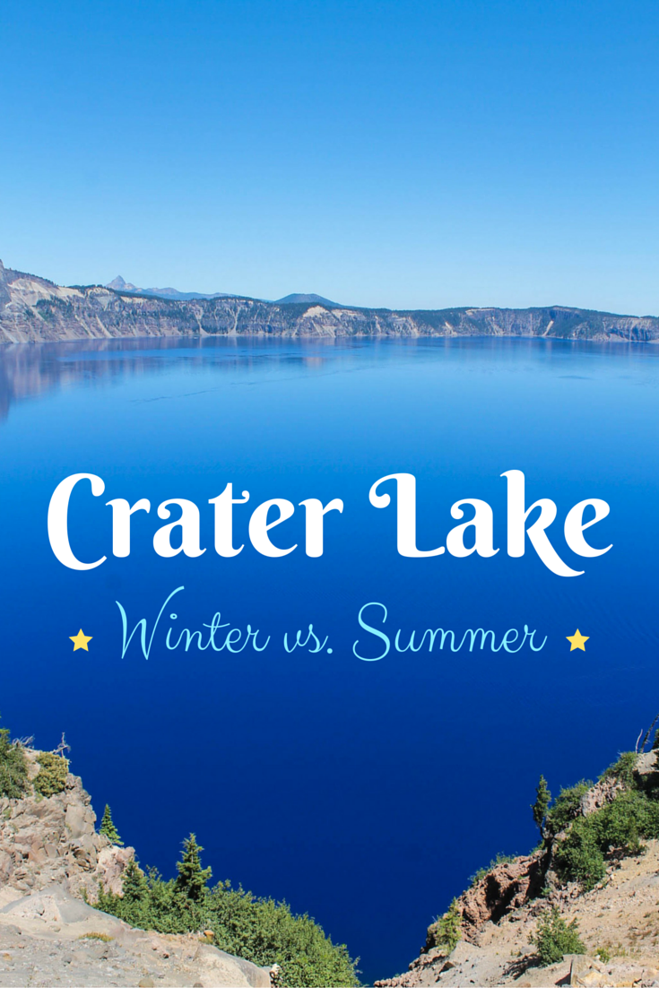 Crater Lake National Park in Souther Oregon - Winter vs. Summer