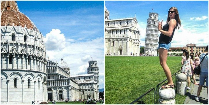 Leaning Tower of Pisa in Pisa, Italy