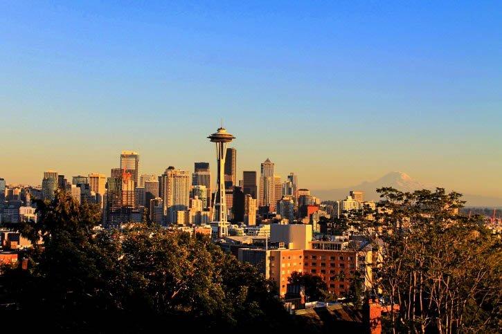 Space Needle in Seattle, Washington - USA