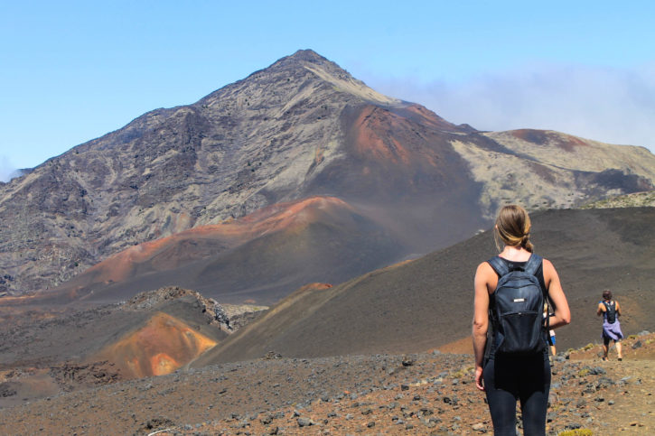 Haleakalā Volcano hike in Maui, Hawaii