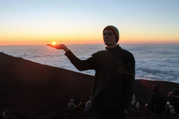 Haleakalā Summit at Sunset in Maui, Hawaii