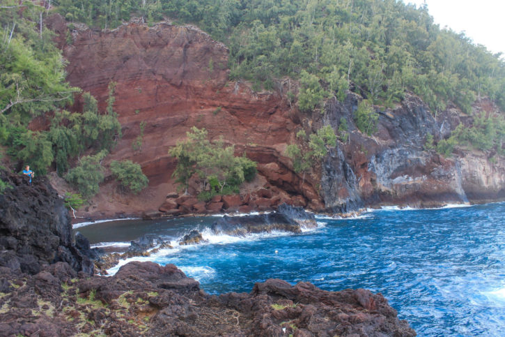 Red Sand Beach on the Road to Hana - Maui, Hawaii