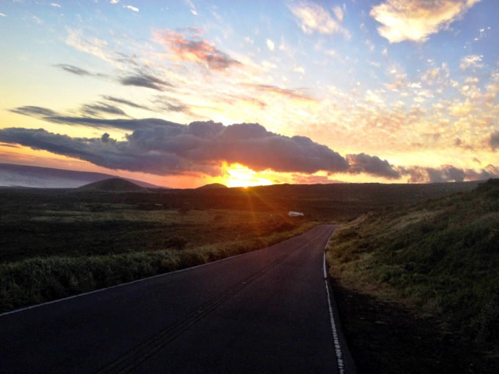 Sunset on the Road to Hana - Maui, Hawaii
