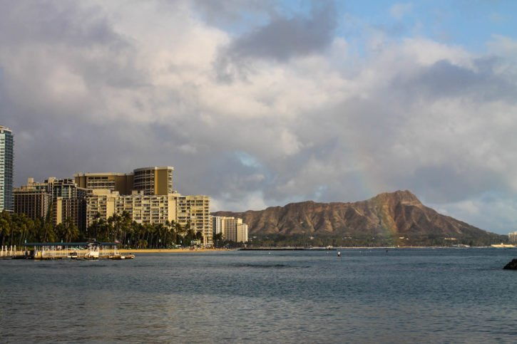Riding bikes around Waikiki and Honolulu - Oahu, Hawaii