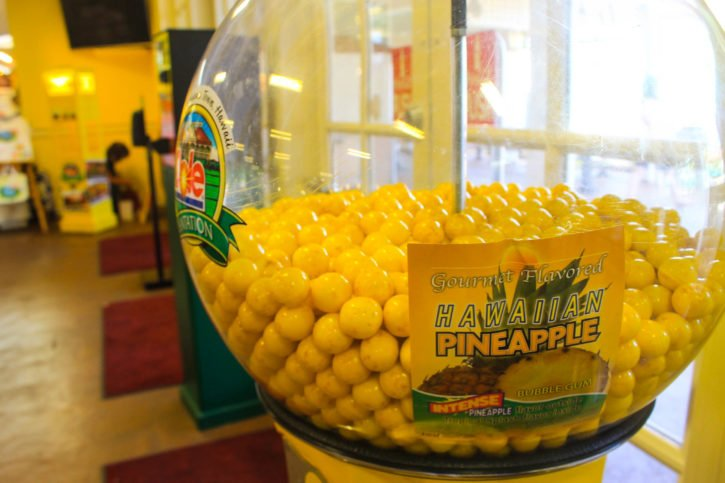 Pineapple Gumballs at the Dole factory in Oahu, Hawaii