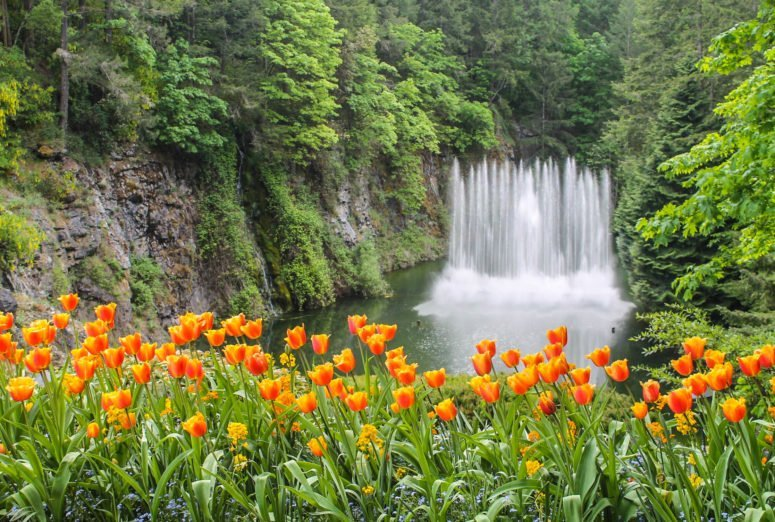 Postcard from The Butchart Gardens - Vancouver Island, Canada
