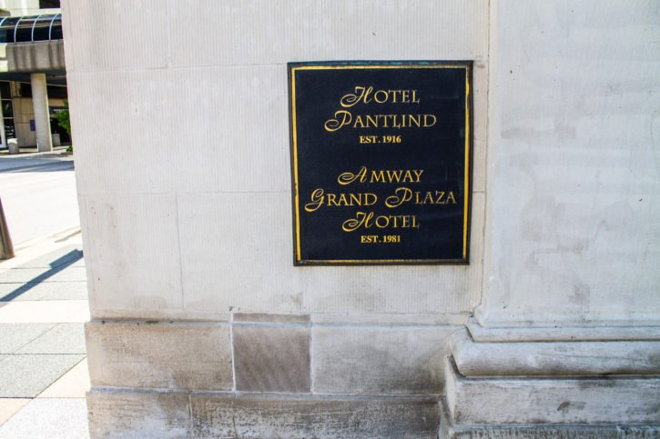 The Amway Grand Plaza Hotel in Grand Rapids, Michigan