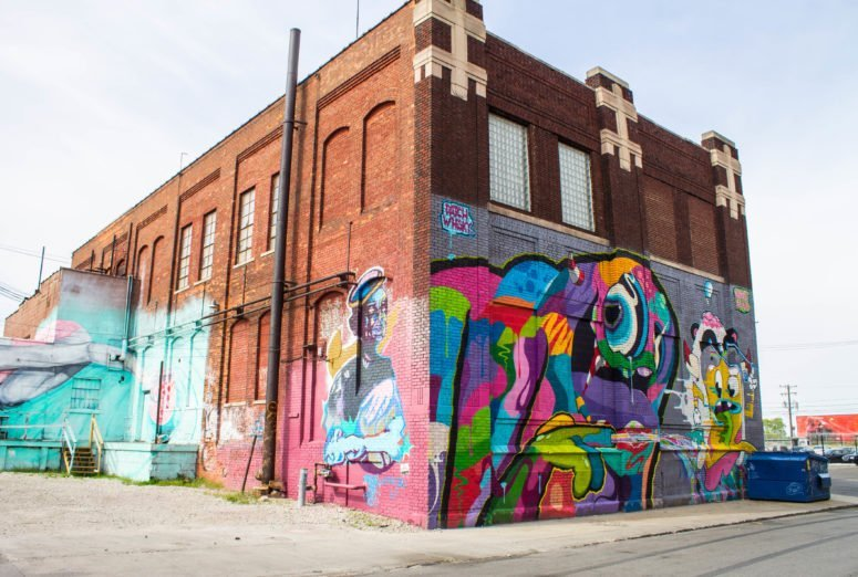 Street art in Detroit, Michigan