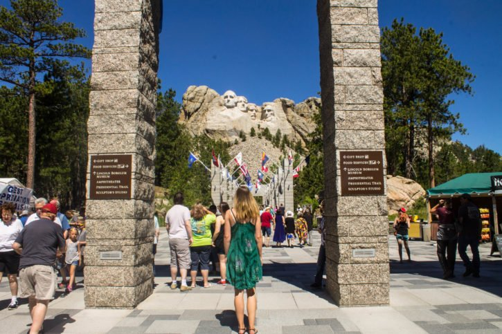Mt. Rushmore in the Black Hills of South Dakota - USA