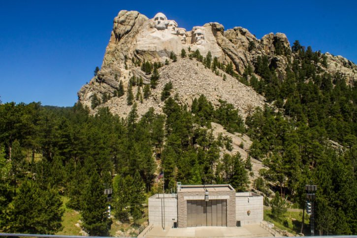 Mt. Rushmore in the Black Hills of South Dakota - USA