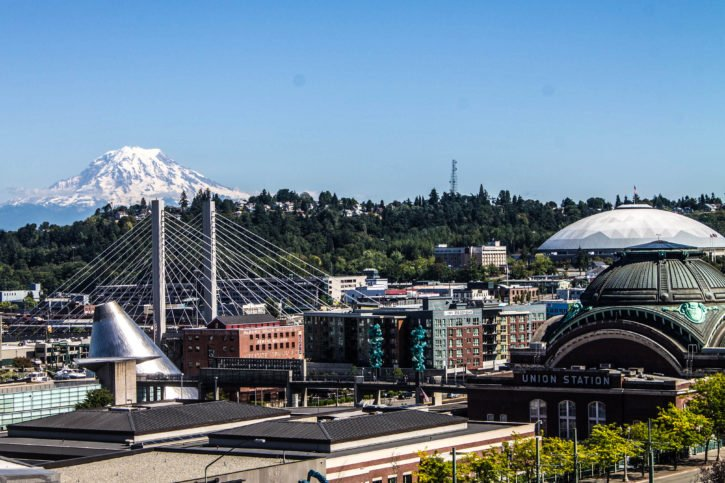 Tacoma, Washington on a Sunny Day