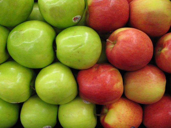 Apples in Gettysburg, Pennsylvania