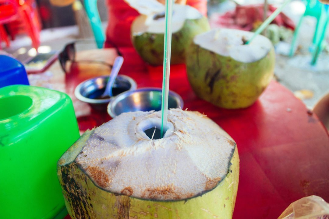 Fresh coconut juice in Yangon, Myanmar | Myanmar travel cost