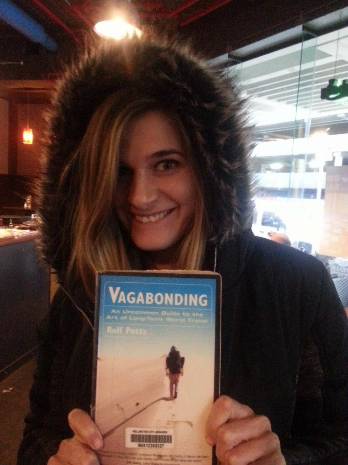 Vagabonding, one of the many books I read in Wellington, New Zealand