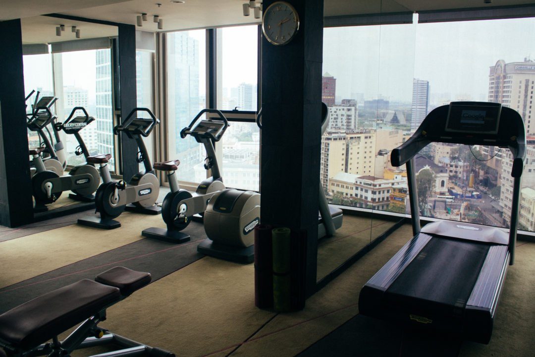 The view is stunning at the hotel's gym and the Sky bar Liberty Central