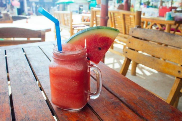 Watermelon smoothie in Koh Lanta, Thailand - Asia Travel
